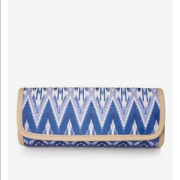59 off Stella Dot Bags Indigo Ikat Jewelry Roll Bag Stella Dot